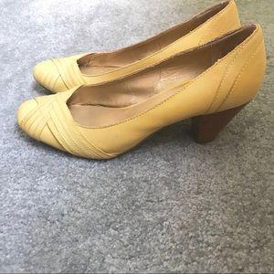 Seychelles Yellow Block Heel